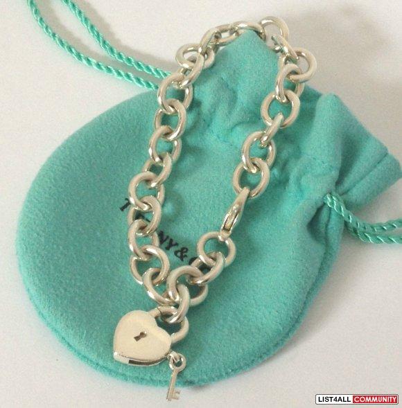 Tiffany Heart Lock Key Charm With Bracelet Sterling Silver Ddkim List4all