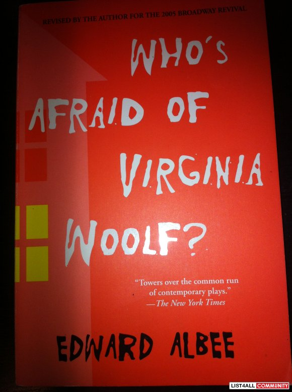$10 WHO'S AFRAID OF VIRGINIA WOOLF? by Edward Albee