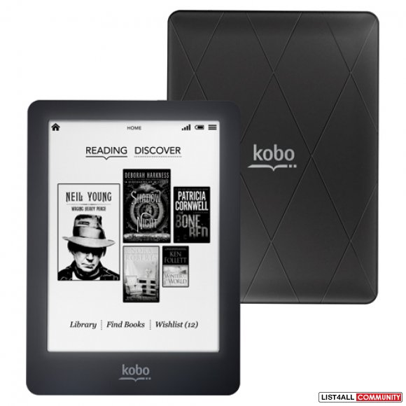 Kobo Glo eReader with wifi function