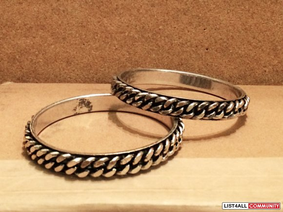 Pair of Silver Chain Bangles