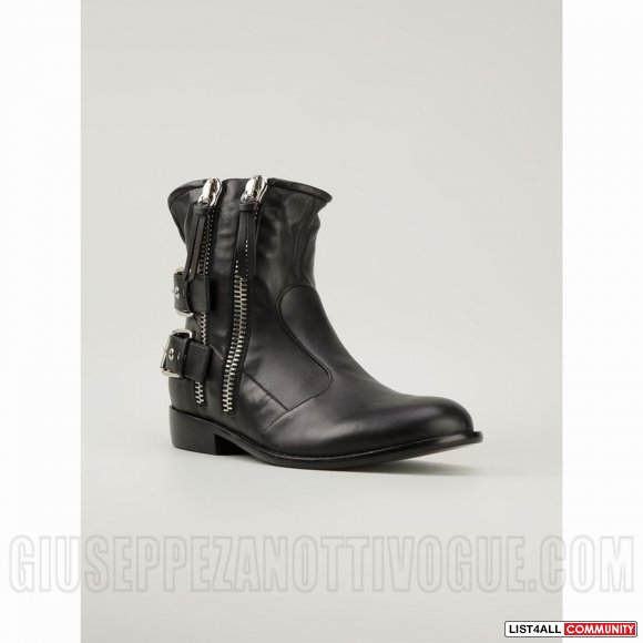 Giuseppe Zanotti Men's Double Side Zip Boots