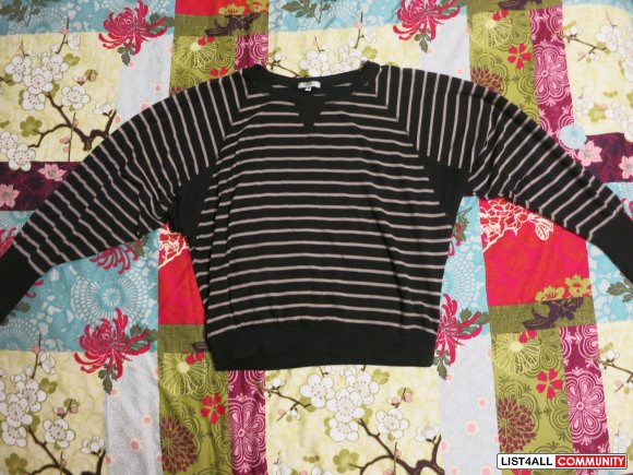 Buffalo Striped Batwin Shirt - Size XS