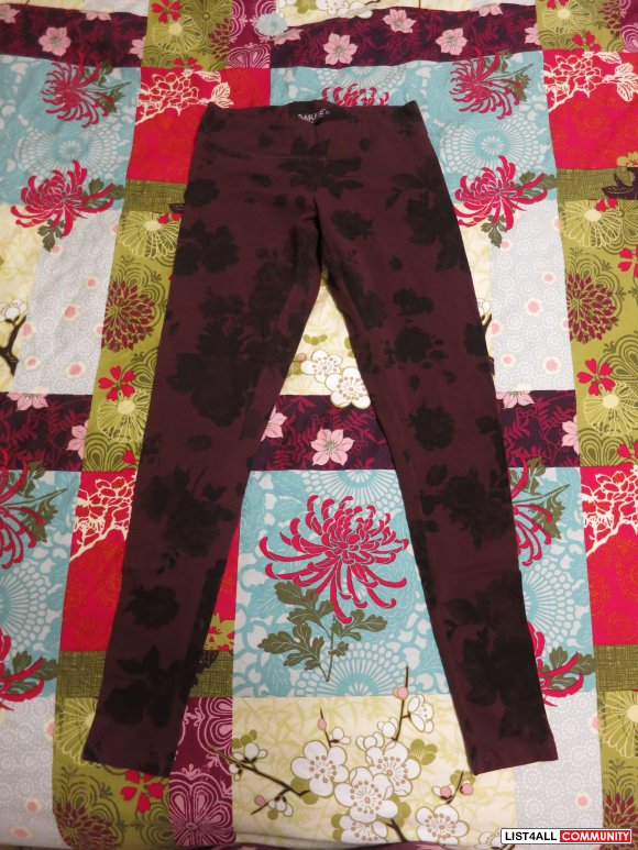 Garage Floral Leggings - Size S