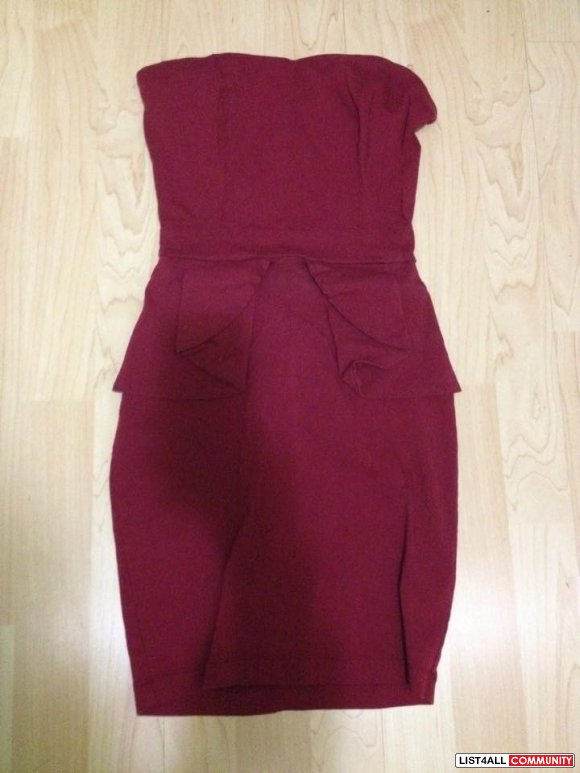 Red Wine coloured Charlotte Russe dress