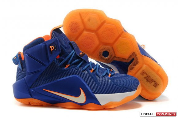 Cheap Lebron 12 XII Blue Orange White,www.cheapslebron12.com