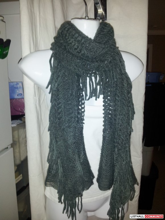 Brand New Soft, Knitted Multi-Purpose Scarf