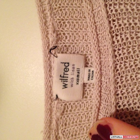 WILFRED SALMON CROCHET CROP SWEATER ARITZIA