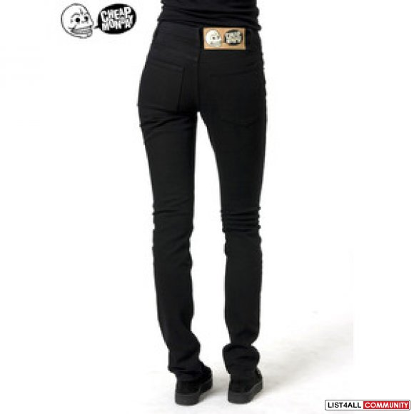 CHEAP MONDAY BLACK DENIM PANT SZ 27