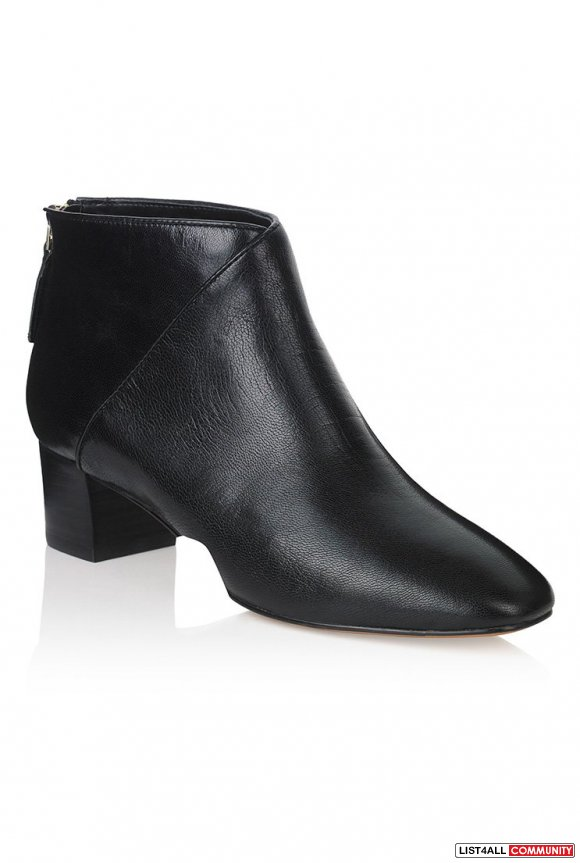 LEATHER NINE WEST ANURA ANKLE BOOT