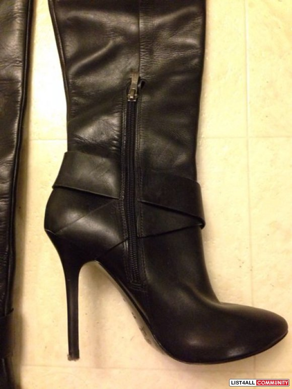 Authentic Marciano knee high 100% leather boots Sz 6.5.
