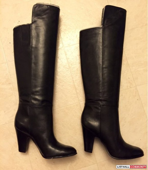 BNIB Nine West Black Over the Knees Boots