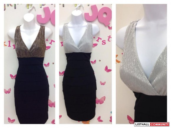 New Years Eve Gold Or Silver top Dress S, M, or L