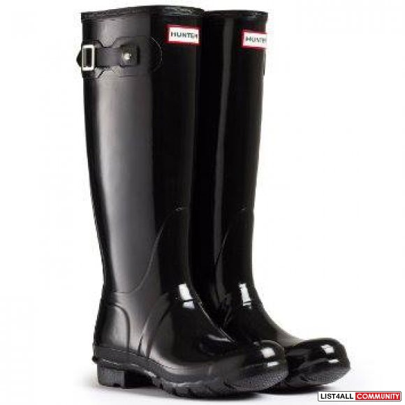 Brand New Authentic Hunter Original Tall Gloss Wellington Boots