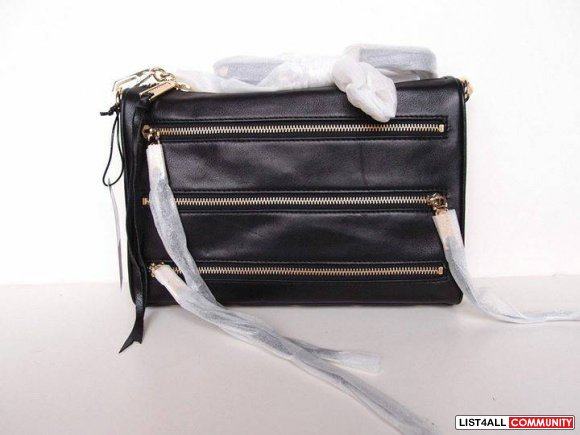 Brand New With Tag Rebecca Minkoff FULL SIZE 5-Zip Leather Bag