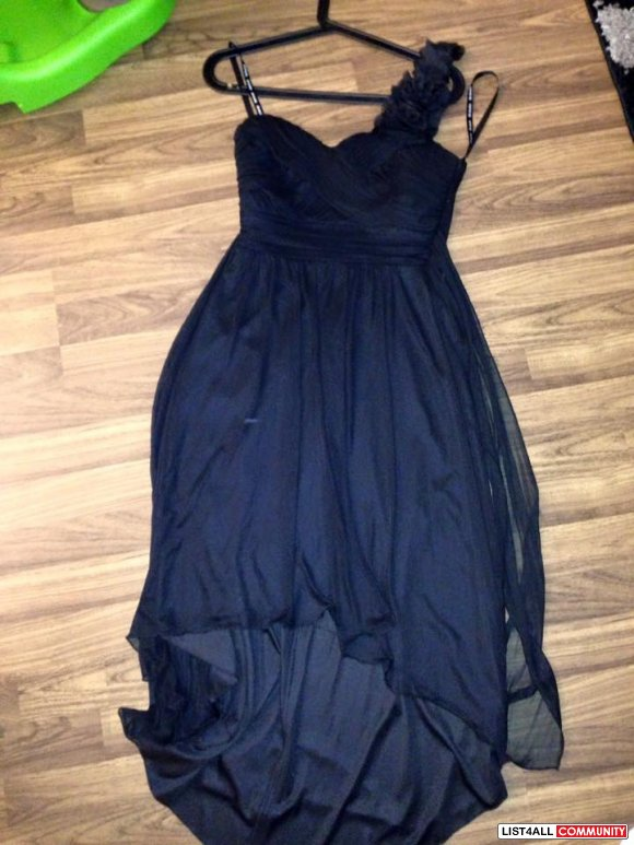 David's briday bridesmaid black high low dress size Small