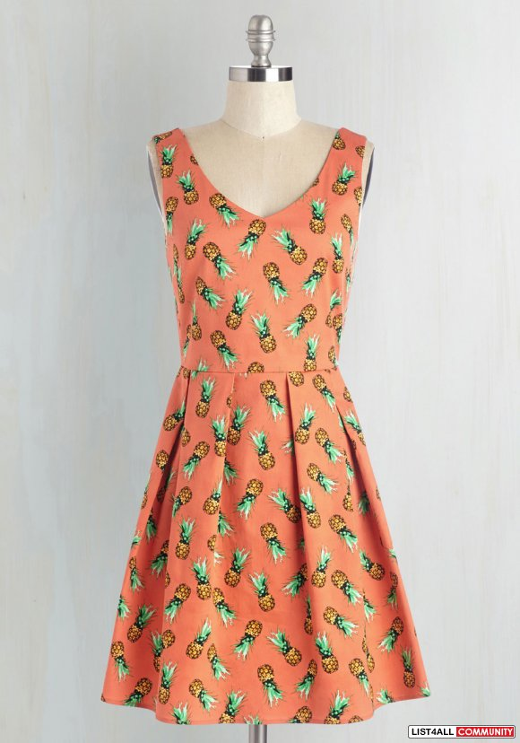 NEW with tags, Modcloth Pineapple Print Dress   SOLD