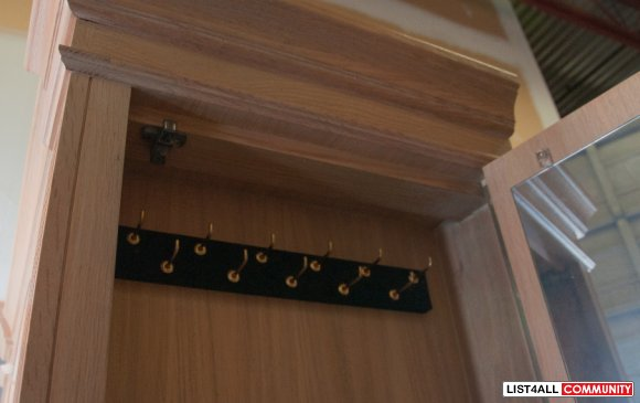 Wardrobe with Safe Lock, AC Socket & Plug