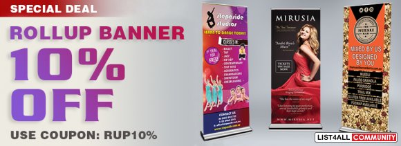 10% off on printing Roll-Up Banners