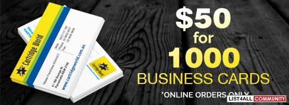1000 Business Cards Printing at just $50AUD