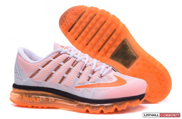 Cheap Air Max 2016 White Orange Black,www.cheapflyknit2016.com