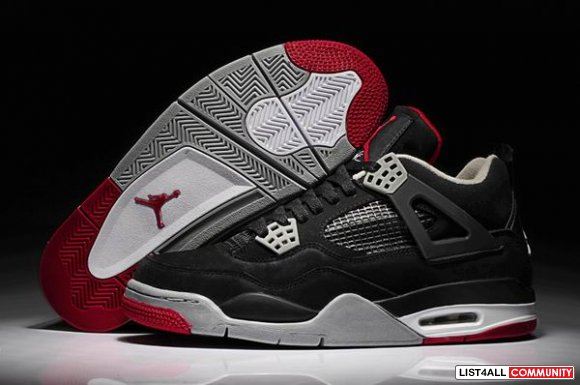 Cheap Air Jordans 4 Red White Black Grey