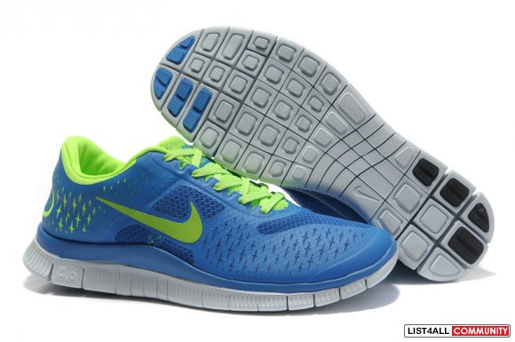 Nike Free 4.0 V2 Mens Running Shoe Royalblue Yellow www.cheapnikeroshe