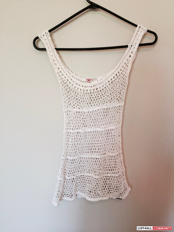 Roxy Netted Shirt Swimsuit Cover XS