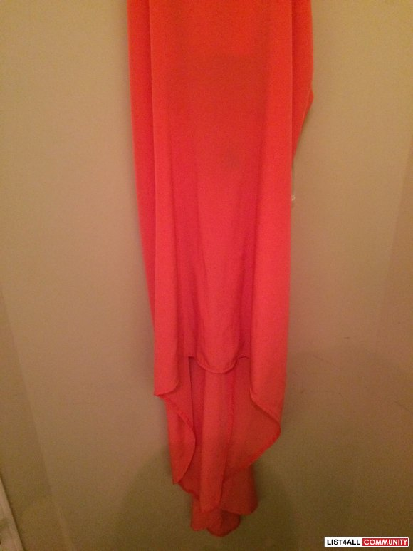 Boutique Orange High Low Dress Size Small