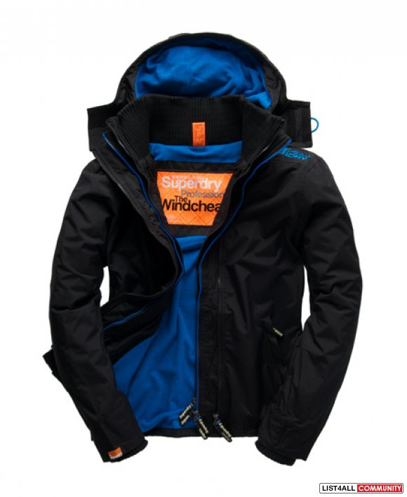superdry windcheater blue