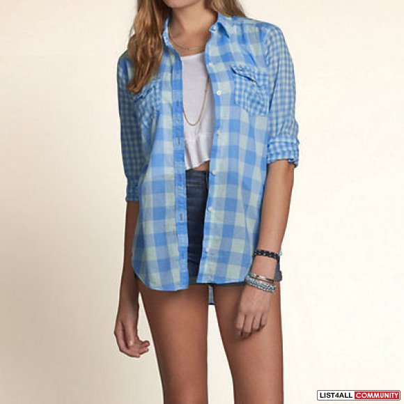 Cotton On Blue Checked Button Down