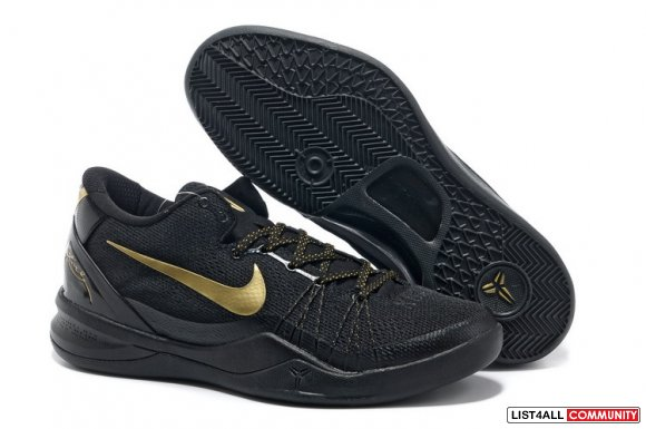 Nike Zoom Kobe 8 Elite Black Metallic Gold,www.kd7sports.com