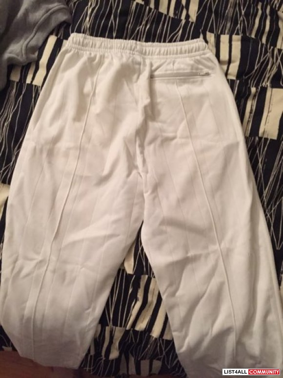 White Hugo Boss Track Pants Sz M