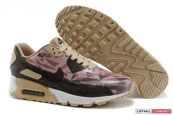 Nike Air Max 90 Hyperfuse Beige Brown www.maxscheap.com