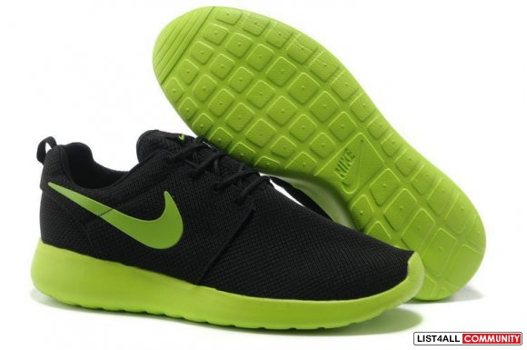 Cheap Nike Roshe Black Green Sale www.nikeroshecheap.com