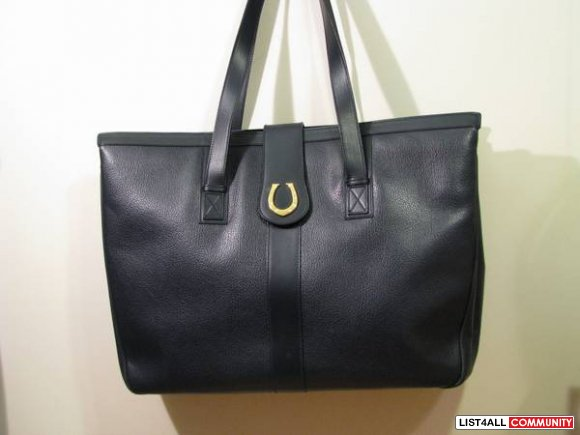 Vintage Authentic Gucci Leather X-Large Tote Bag
