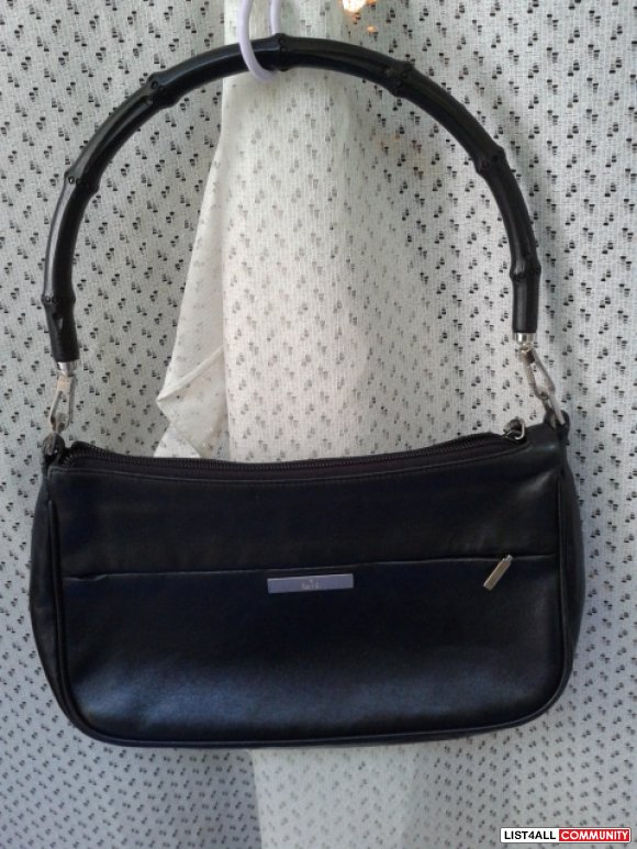 Authentic Gucci Black Leather Bamboo Handle Bag REDUCED