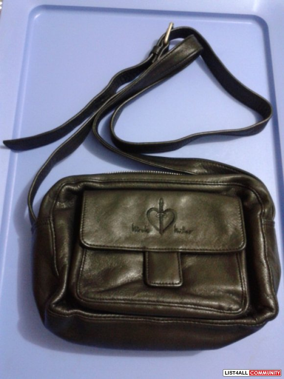 Nicole Miller New York Black Leather Crossbody Bag REDUCED