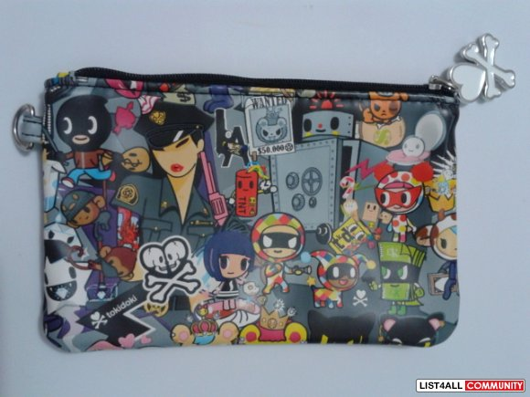 NEW Tokidoki Sephora Exclusive ROBBERY Print Cosmetic Bag Pouch