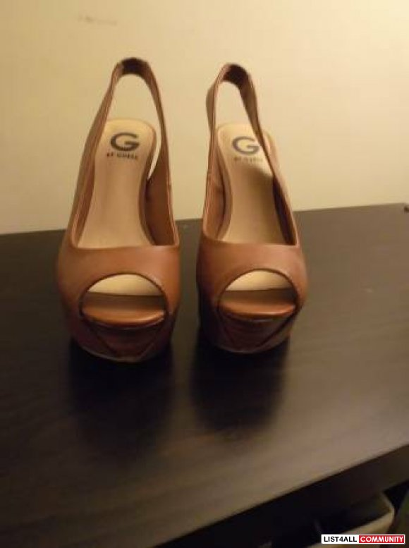 G by Guess wedges with wooden heels - new