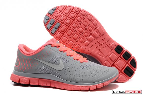 Nike Free 4.0 V2 Gray Pink www.workrunning.com