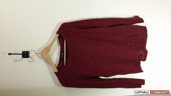 Maroon/Burgundy Sweater/Long Sleeve