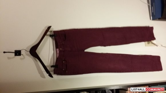 Maroon Jeans Amazing Condition Size 8