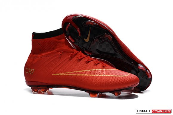 2015-16 Soccer Boots Nike Mercurial Superfly CR7 FG Red Gold,www.2016n