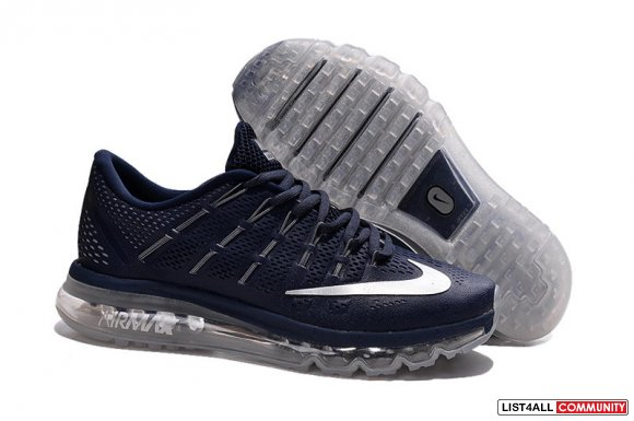 Men's Nike Air MAX 2016 Running Shoes Dark Blue Cheapest-airmaxshoesst