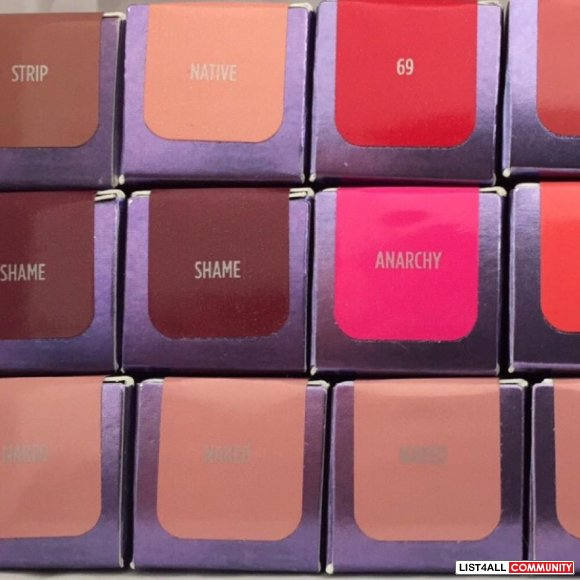 Urban Decay lipsticks brand new in box
