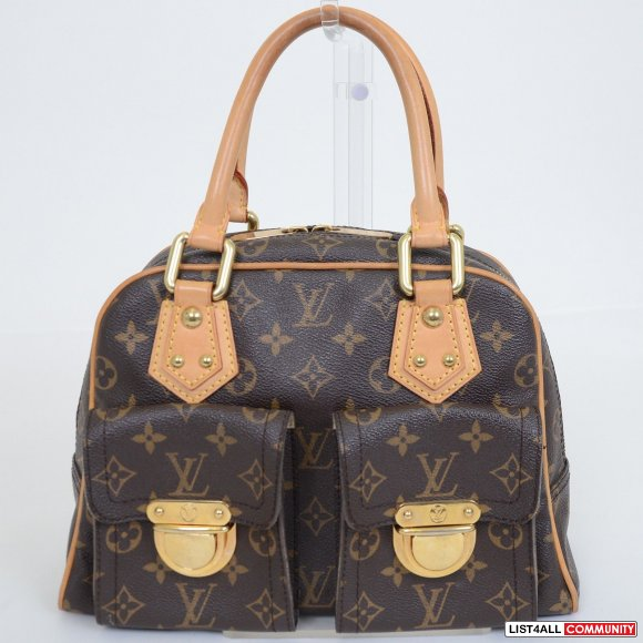LOUIS VUITTON Manhattan Monogram Satchel Purse Bag
