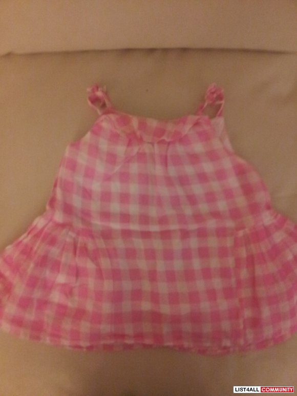 Joe Fresh - Pink/White Plaid Dress - Like new