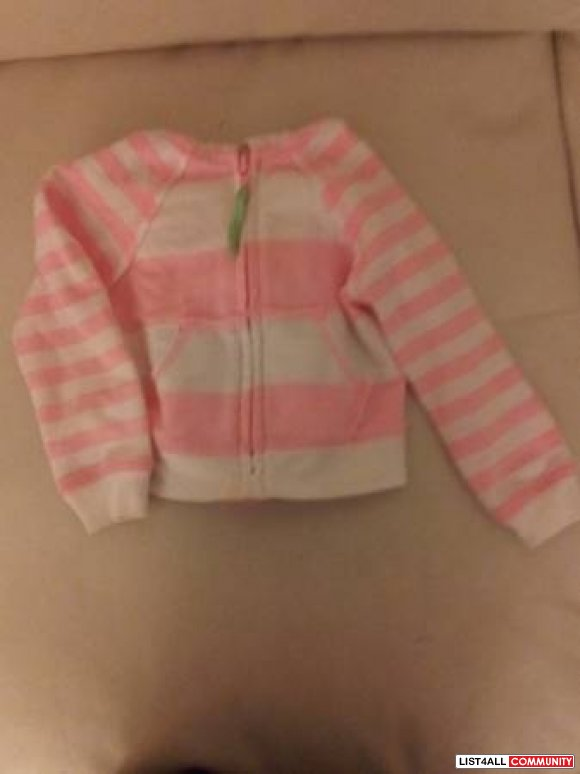 Arizona pink/white striped hoody - 12-18months