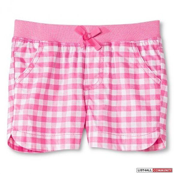 Circo pink/white plaid shorts - 12 months - new