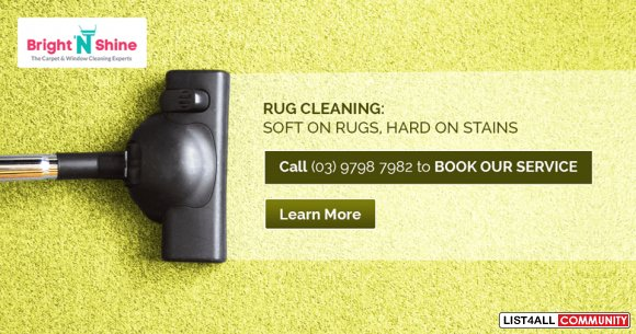 Rug Cleaning Service, with a Revolutionary System